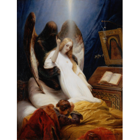 Emil-Jean-Horace Vernet - The Angel of Death (2270х3000)