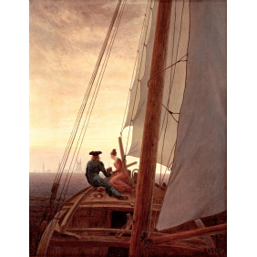 Friedrich, Caspar David - On a Sailing Ship (1920x2500)
