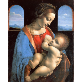 Leonardo da Vinci - The Madonna and Child (The Litta Madonna) (1600x2000)